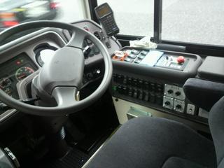 三菱ふそう エアロキング 運転席の制御盤